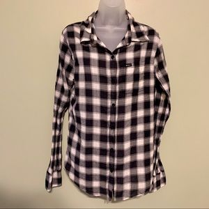 RVCA Plaid Button Down Shirt, Size Large